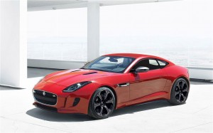 Jaguar F Type Coupe Front Left Side View